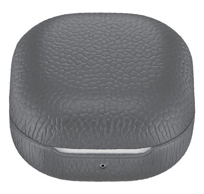 Husa Leather Cover pentru Samsung Galaxy Buds Live, Gray