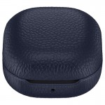 Husa Leather Cover pentru Samsung Galaxy Buds Live, Navy