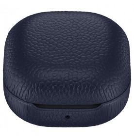 Husa Leather Cover pentru Samsung Galaxy Buds Live, Navy
