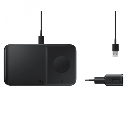 Incarcator wireless Duo (cu incarcator retea), Fast Charger, Black