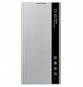 Husa Clear View Cover Samsung Galaxy Note 10, Silver