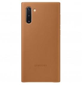 Husa Leather Cover pentru Samsung Galaxy Note 10, Camel