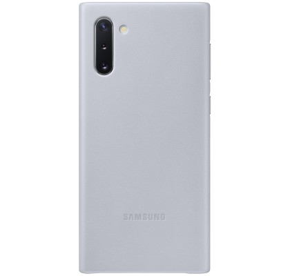 Husa Leather Cover pentru Samsung Galaxy Note 10, Gray