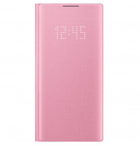 Husa LED View Cover pentru Samsung Galaxy Note 10, Pink