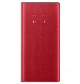 Husa LED View Cover pentru Samsung Galaxy Note 10, Red