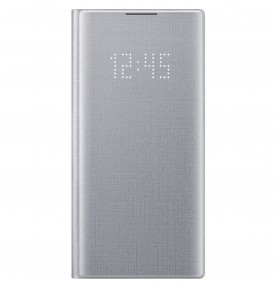 Husa LED View Cover pentru Samsung Galaxy Note 10, Silver
