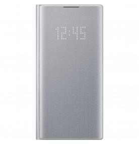Husa LED View Cover pentru Samsung Galaxy Note 10, Silver