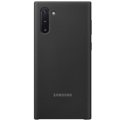 Husa Silicone Cover pentru Samsung Galaxy Note 10, Black