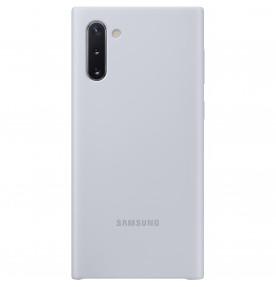 Husa Silicone Cover pentru Samsung Galaxy Note 10, Silver