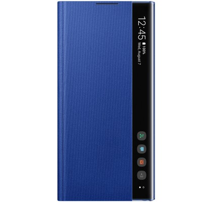 Husa Clear View Cover Samsung Galaxy Note 10+, Blue