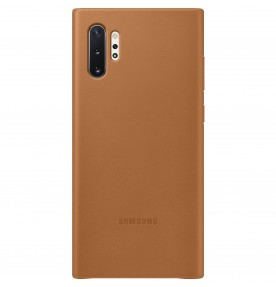 Husa Leather Cover pentru Samsung Galaxy Note 10+, Camel