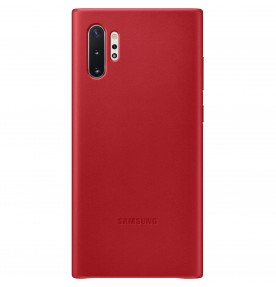 Husa Leather Cover pentru Samsung Galaxy Note 10+, Red