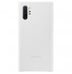 Husa Leather Cover pentru Samsung Galaxy Note 10+, White