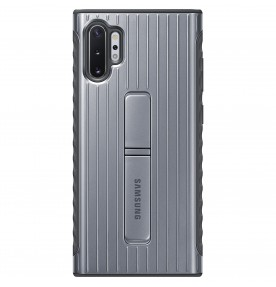 Husa Protective Standing Cover Samsung Galaxy Note 10+, Silver