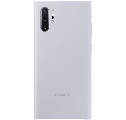Husa Silicone Cover pentru Samsung Galaxy Note 10+, Silver
