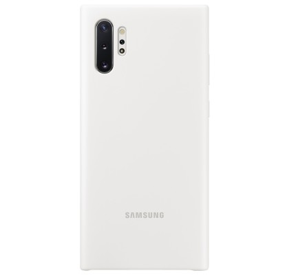 Husa Silicone Cover pentru Samsung Galaxy Note 10+, White