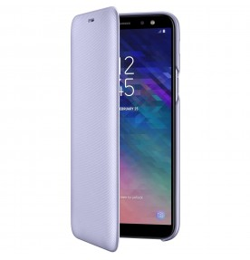 Husa Flip Wallet Samsung Galaxy A6 (2018), Orchid Gray