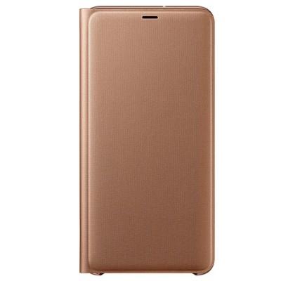 Husa Flip Wallet Samsung Galaxy A7 (2018), Gold
