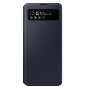 Husa S-View Wallet pentru Samsung Galaxy A41 (2020), Black