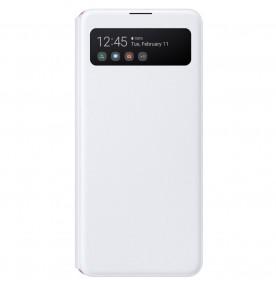 Husa S-View Wallet pentru Samsung Galaxy A41 (2020), White