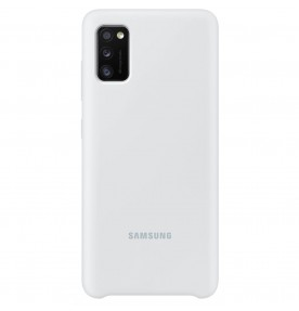 Husa Silicone Cover pentru Samsung Galaxy A41 (2020), White