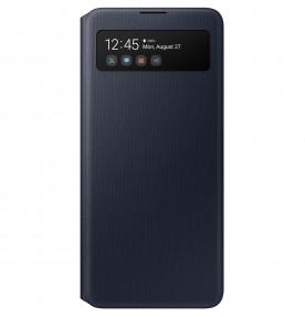 Husa S-View Wallet pentru Samsung Galaxy A51, Black