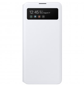 Husa S-View Wallet pentru Samsung Galaxy A51, White