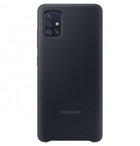Husa Silicone Cover pentru Samsung Galaxy A51, Black