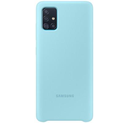 Husa Silicone Cover pentru Samsung Galaxy A51, Blue