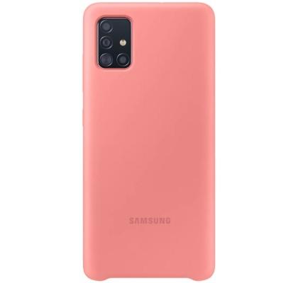 Husa Silicone Cover pentru Samsung Galaxy A51 (2020), Pink