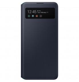 Husa S-View Wallet pentru Samsung Galaxy A51 5G, Black
