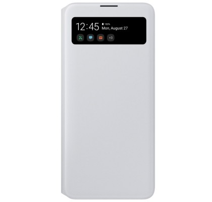 Husa S-View Wallet pentru Samsung Galaxy A71 (2020), White