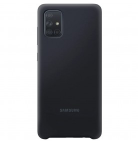 Husa Silicone Cover pentru Samsung Galaxy A71 (2020), Black