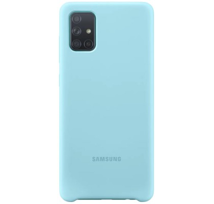 Husa Silicone Cover pentru Samsung Galaxy A71 (2020), Blue