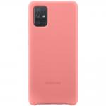 Husa Silicone Cover pentru Samsung Galaxy A71 (2020), Pink