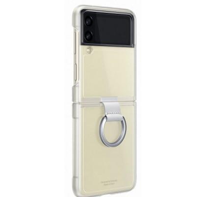 Husa Clear Cover with Ring pentru Samsung Galaxy Z Flip3, Transparent
