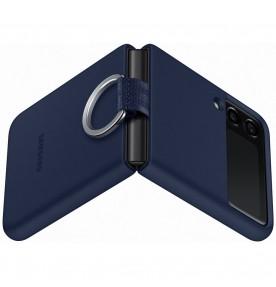 Husa Silicone Cover with ring pentru Samsung Galaxy Z Flip3, Navy