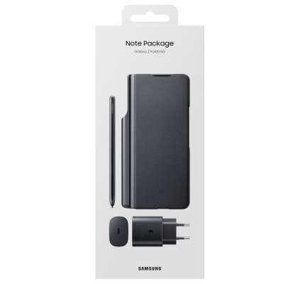 Note Package pentru Samsung Galaxy Z Fold3 5G, Black