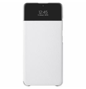Husa S-View Wallet pentru Samsung Galaxy A32 LTE, White