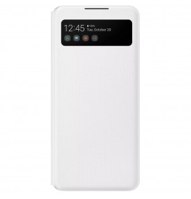 Husa S-View Wallet pentru Samsung Galaxy A42, White