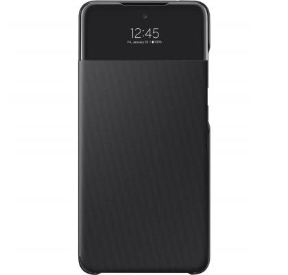 Husa S-View Wallet pentru Samsung Galaxy A52, Black
