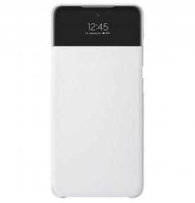 Husa S-View Wallet pentru Samsung Galaxy A52, White