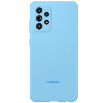 Husa Silicone Cover pentru Samsung Galaxy A52, Blue