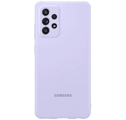 Husa Silicone Cover pentru Samsung Galaxy A52, Violet