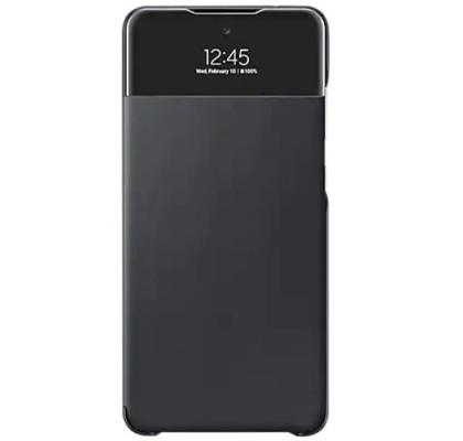 Husa S-View Wallet pentru Samsung Galaxy A72 (2021), Black