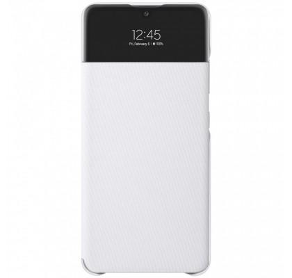 Husa S-View Wallet pentru Samsung Galaxy A72, White
