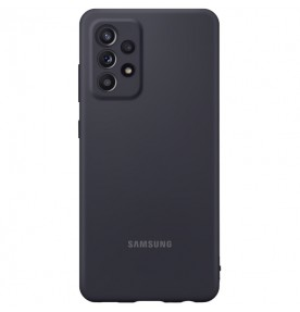 Husa Silicone Cover pentru Samsung Galaxy A72, Black