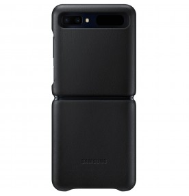 Husa Leather Cover pentru Samsung Galaxy Flip Z, Black