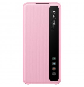 Husa Clear View Cover Samsung Galaxy S20, Pink