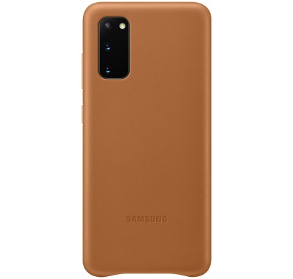 Husa Leather Cover pentru Samsung Galaxy S20, Brown